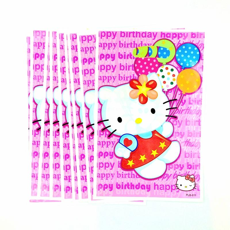 Hello Kitty Balloons Loot Gift Bag Girl Kids Cartoon Gift Birthday Party  Event Plastic Storage Bags Supplies Decoration Canada 2019 From  Chengdaphone06, ... e9b6fa372d