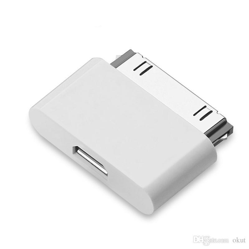 562b031014d Micro Usb A Adaptador De Carga Micro Adaptador USB Para Apple IPhone 4s 4  3gs IPhone4S Para Ipad 2 3 30 Pines Cable Línea Cargador USB 30 Pin  Conector Micro ...