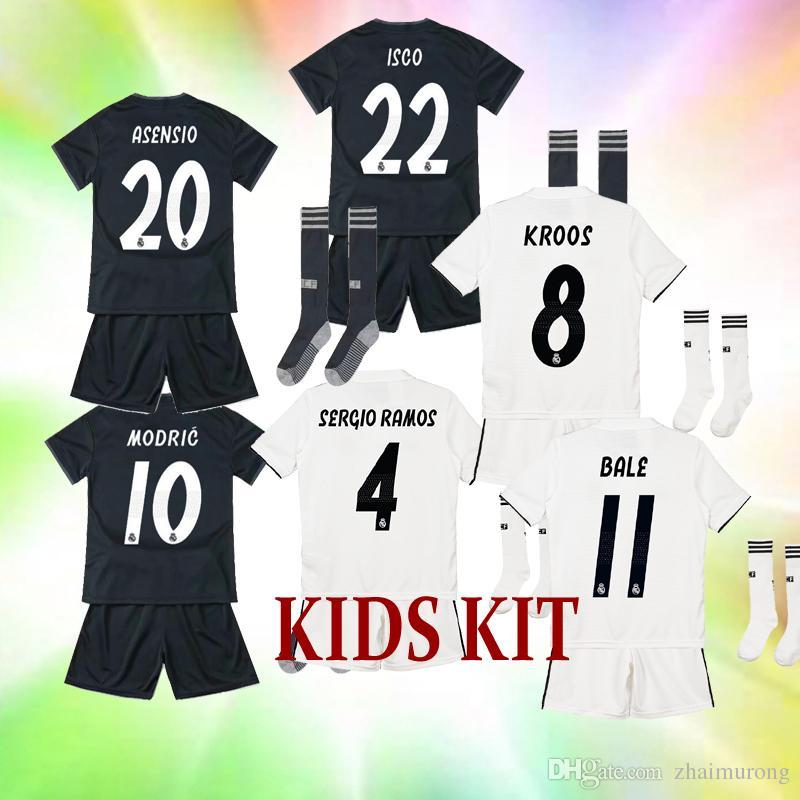 ... Compre NUEVO 2018 19 Kit De Ni os Real Madrid Hogar Visitante 3ra 3ea8a61353d55