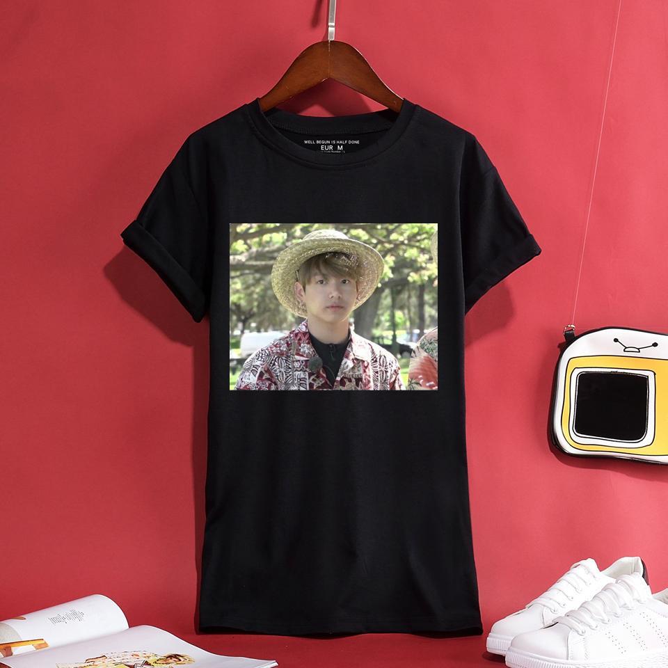 951b142601e Hot Selling 2018 BTS Jungkook Hawaii 100% Cotton T-shirt Men Women ...