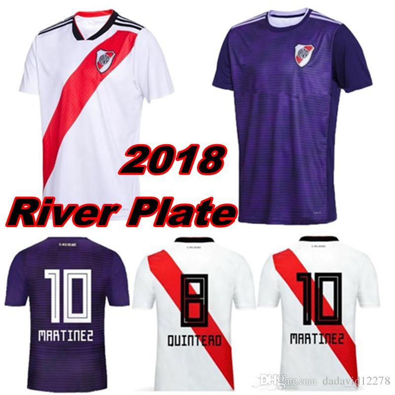 67a3b4b815a 2018 2019 River Plate soccer jersey home white shirt 18 19 Fernández  Martínez shirt 27 PRATTO 8 OUINTERO 10 MARTINEZ FOOTBALL SHIRTS JERSEY