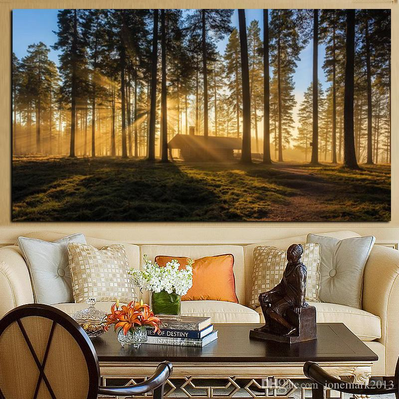 Canvas Paintings HD Prints Poster In Woods Mountain Forests Reveal Morning Sun Kyoto Japan Pictures Wall Art Decor Frame