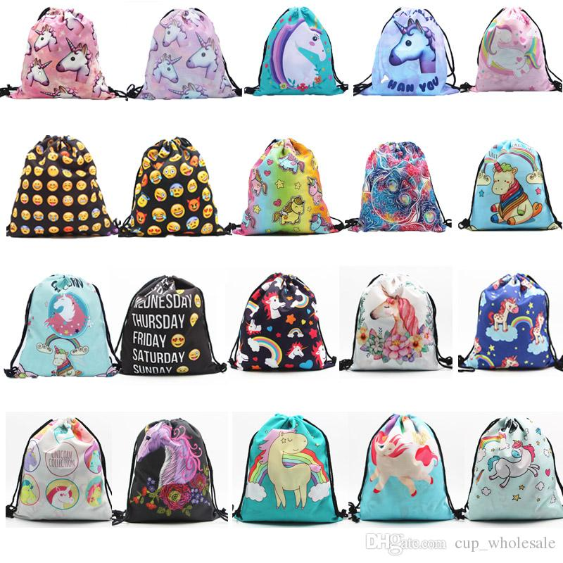 53 Styles Unicorn Drawstring Bag Travel Daypack Sports Portable Backpack  Party Favors Gift Bags Girls Cute Rucksack Shoulder Bags Gym Bag Modern Gift  Wrap ... 8796c8c0d73f4