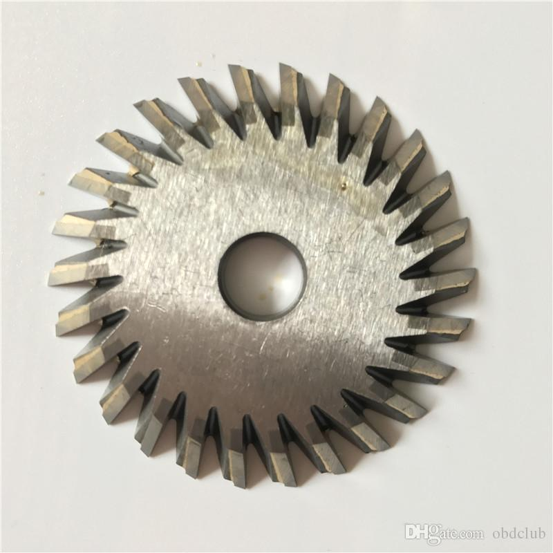Milling Cutter 70x7.3x12.7x26T Welded Carbide Cutter For WENXING Portable Q27 100D 100G 100E Horizontal Key Cutting Machines