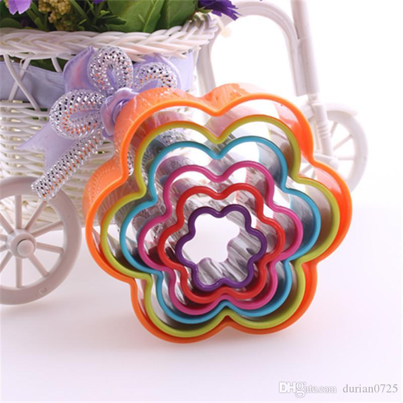 2018 Baking Molds Cookie Cutters Cake Mould Mousse Cookie Cake Mold Five Star Rectangle Tree Heart Shape Hand Made Cakes Moulds DHL free
