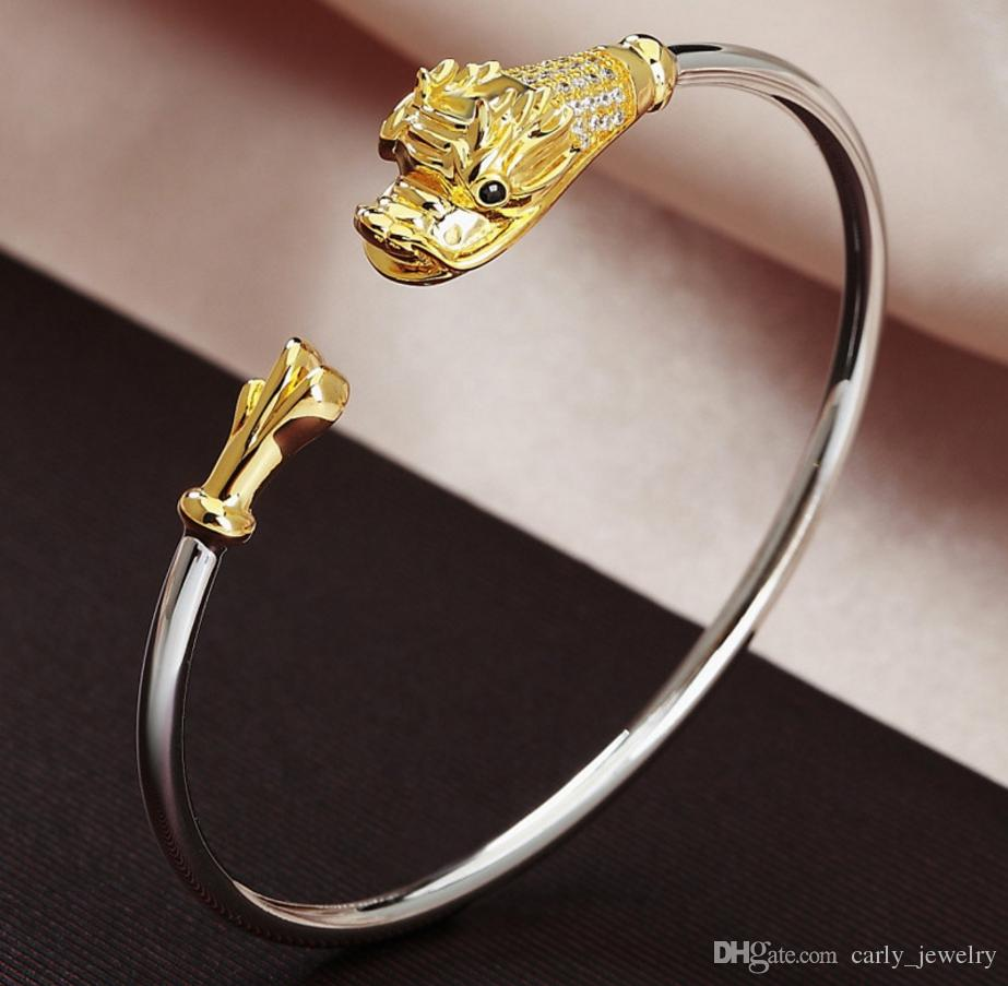 Chinese Style 925 Sterling Silver Zodiac Bangle Cute Rabbit Women Original High-end 3D Animal Ornaments 12 Creative Gifts