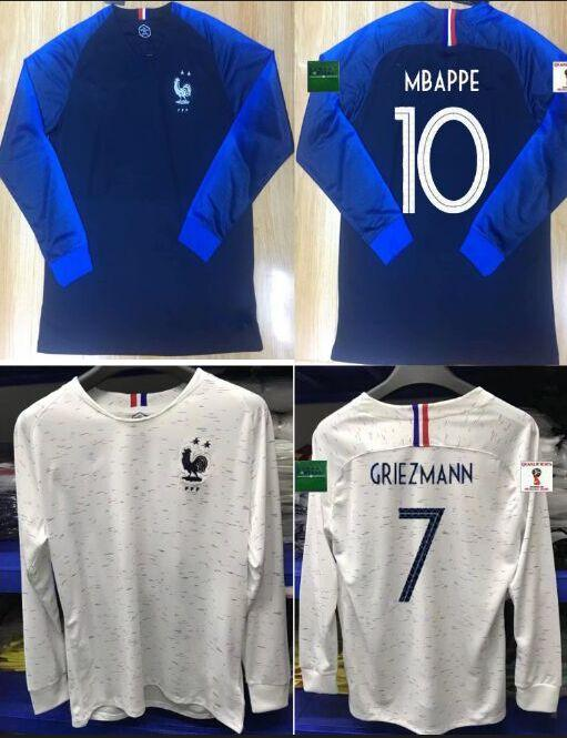 Kupit Optom Maillot Foot Longu Football Equipe De France 2 Zvezdy