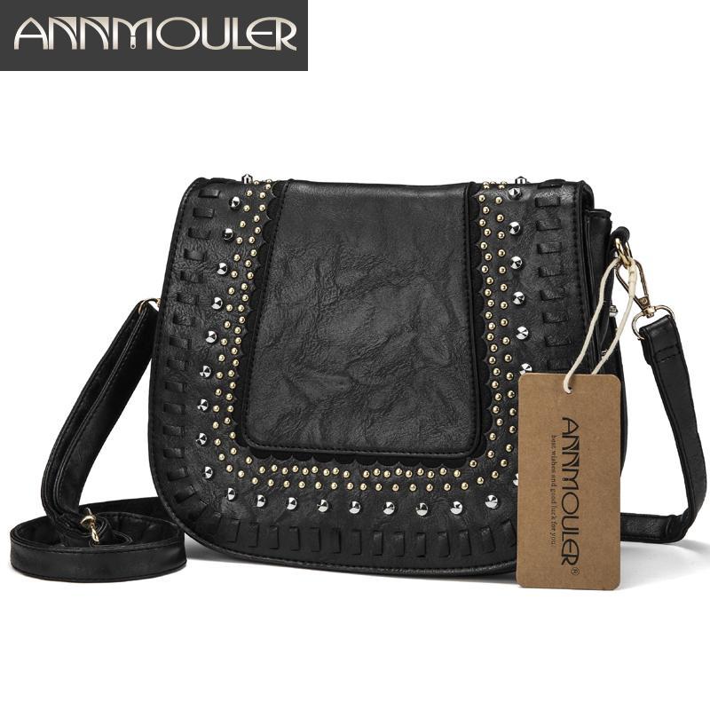 36c9812139c 2019 Fashion Annmouler Vintage Women Shoulder Bag Crossbody Bag Pu Leather  Lace Flower Messenger Bag New Design Ladies Purse Cheap Designer Bags Mens  ...