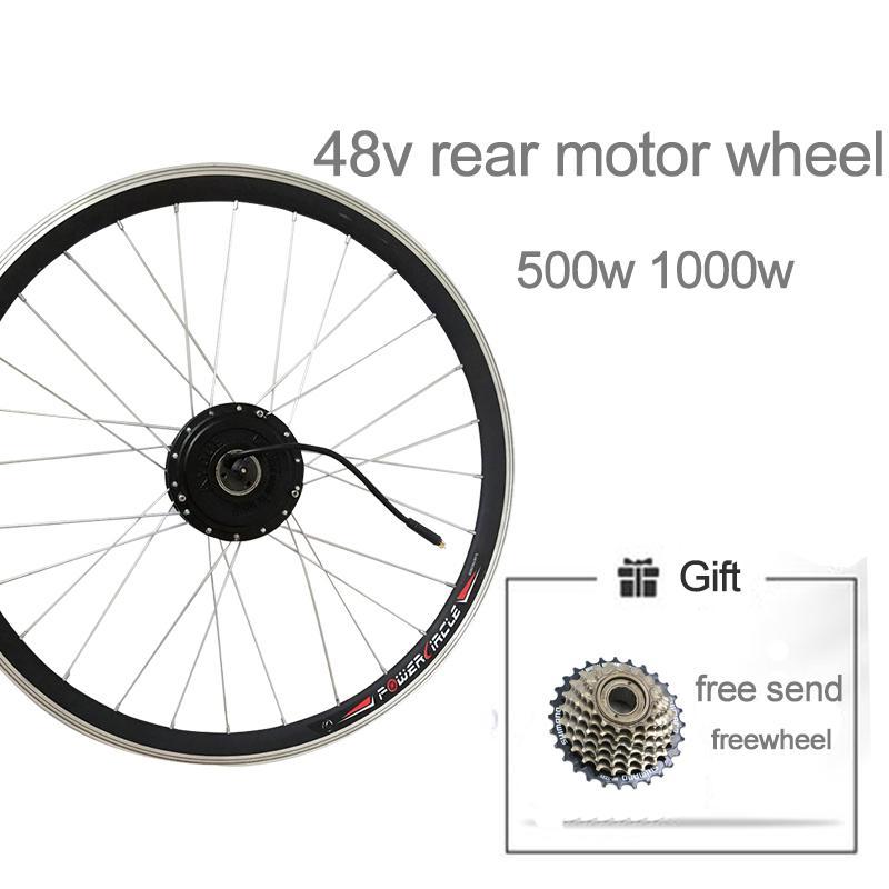 E-bike Conversion Kit Electric Bike Motor Kit Rear Drive 500W-1000W Hub Ebike