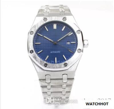 ff44578185b Compre Top Novos Homens De Luxo Real Automático Movimento De Varredura  Relógio Data Face Azul OFFSHORE Cinta De Aço Inoxidável Relógios De  Qualidade ...