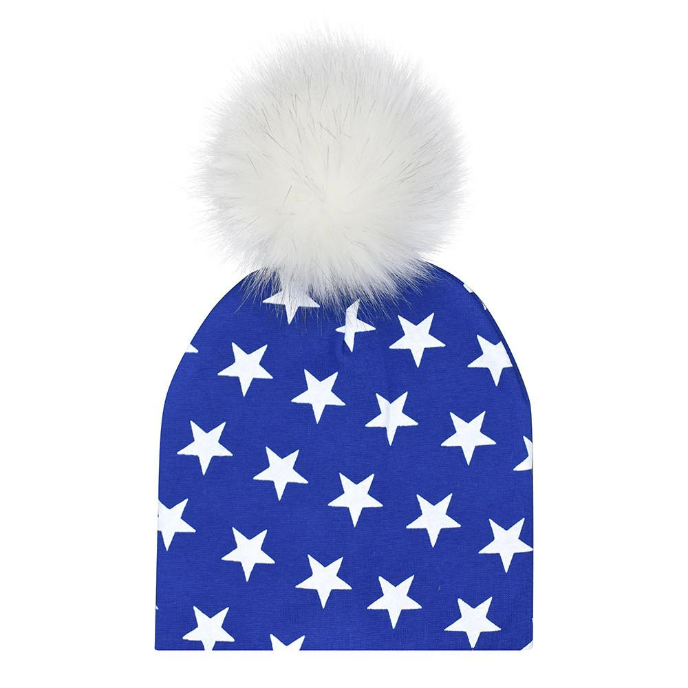 ac21af7bb59622 2019 Winter Hats With Pom Poms Printed Newborn Infant Baby Warmer Faux Fur Ball  Hat Beanie Cap Drop Shipping #2 3 From Yohkoh, $36.5 | DHgate.Com