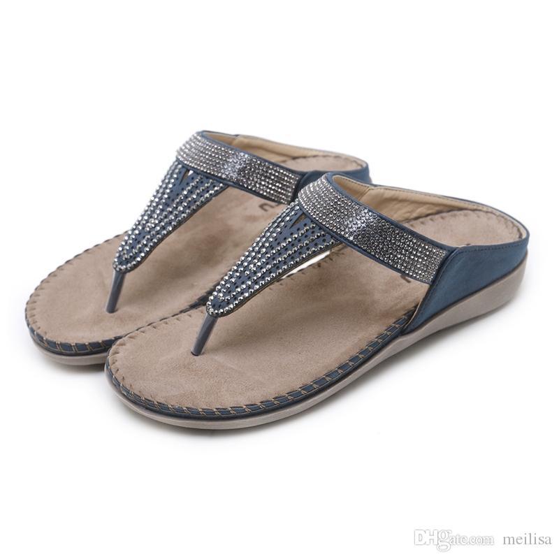 3c7086cafd062 Fashion Women s Sandals Summer Women Shoes Sandals Flip Flops Bohemia  Casual Beach Shoes Women Flats Elegant Ladies Shoes 2081-3 Women Sandals  Bohemia Shoes ...