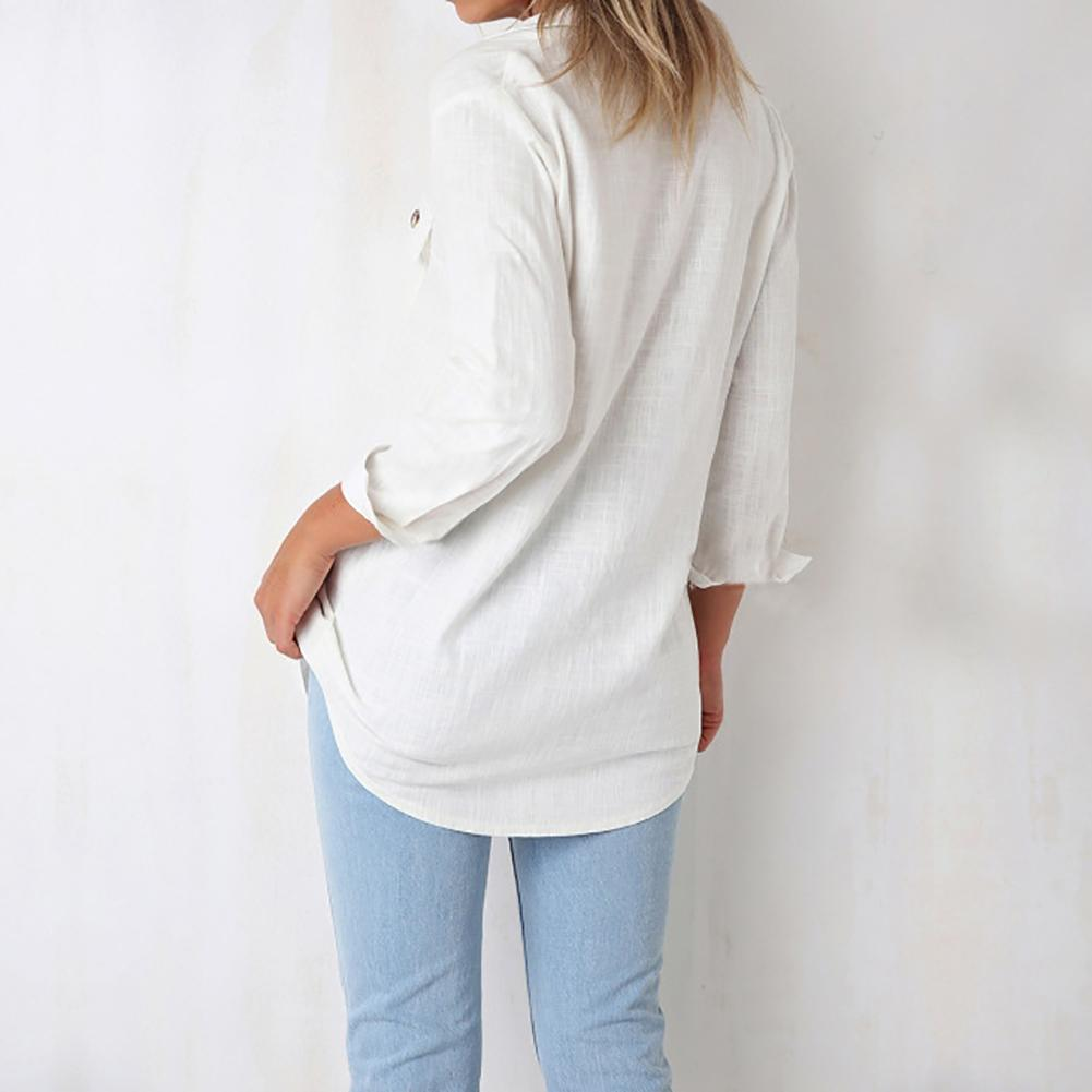 5974649e 2019 Fashion Leisure Long Sleeve V Neck Buttons Front Pocket Shirt Autumn  Women Top Blouse From Vikey06, $34.28 | DHgate.Com