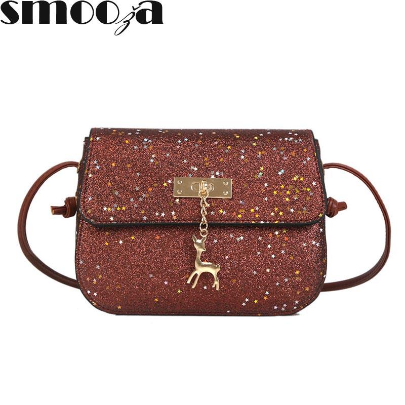 c1660281292 SMOOZA Sequined Women Messenger Bags Shining PU Leather Party Day ...