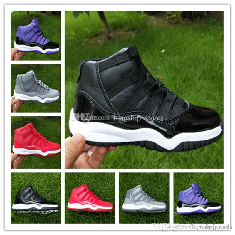 d861d7846910ba 11 Basketball Shoes for Children Black Red Grey Blue White XI 11s ...