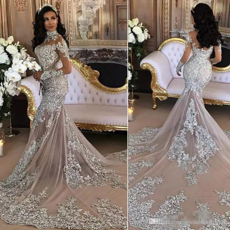 Sexy Silver Wedding Dress