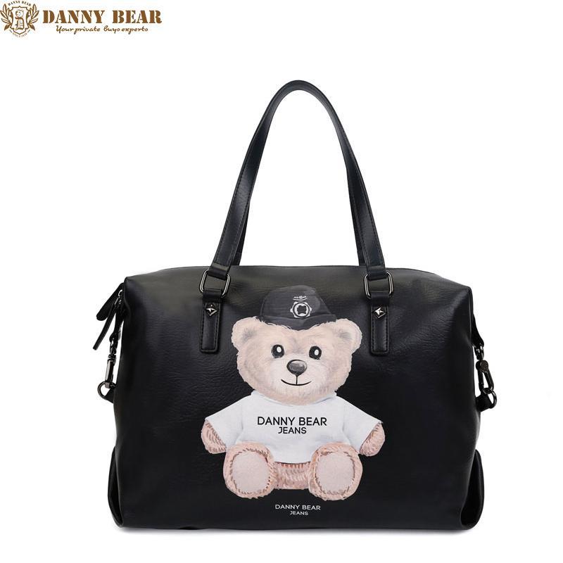DANNY BEAR 2017 Women Leather Handbags Men Handbag Large Leather Travel Bag  Luxury Black Tote Bag Vintage Shoulder Cute Bags Purses For Women From  Caspink b8aa6b8b32e65