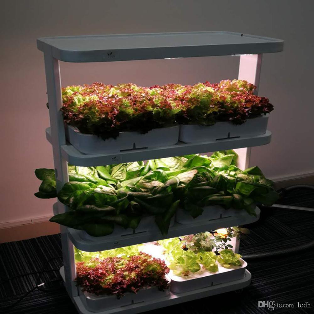 sistemas de cultivo hidropónicos usados en el hogar sistemas de jardín vertical, mini jardineras inteligentes, sistemas de jardinería nuevas luces de cultivo Iluminación de plantas interiores
