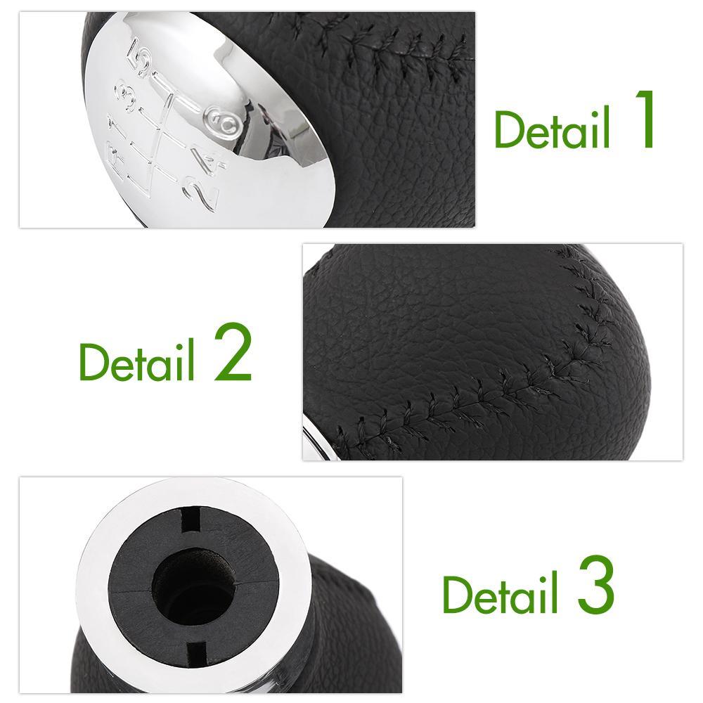 Manopola pomello del cambio manuale in pelle cromato a 6 velocità Mazda 6 Mazda 5 Mazda 3 maniglia a leva testa Han Car Styling Accessori