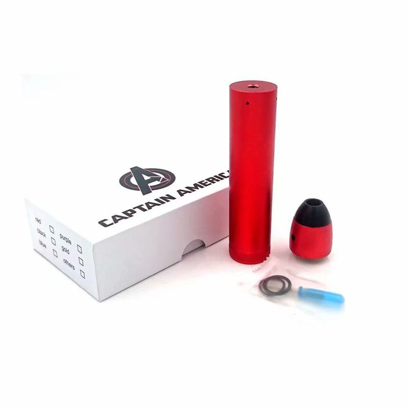 Newest Captain America Mod Kit OEM Product Sets Mechanical VAPE Many Styles Beautiful Color Exquisite Pattern 24mm Fit 18650&20700 Battery