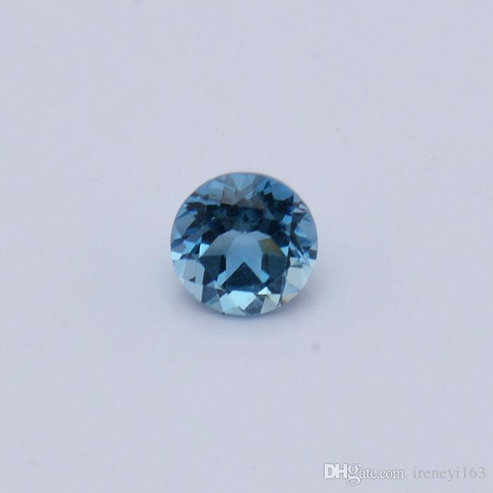 London Blue Topaz Eye Clear Good Brilliant Cut Sizes 2mm-5mm Round 100% Natural Loose Gemstones For Jewelry Making