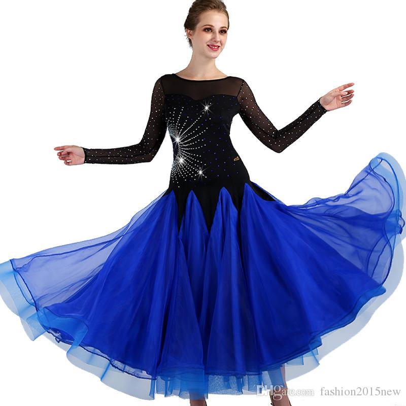 d4316a8f1 2019 Standard Ballroom Dance Dress 2018 New Competition Dresses Big Swing  Rhinestone Costumes For Women Tango/Waltz Modern Dancing Dress F307 From ...