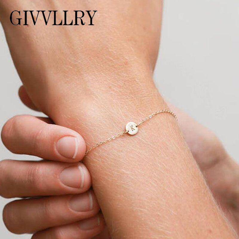 2019 Givvllry Minimalist 26 Letters Bracelet For Women Bff Birthday