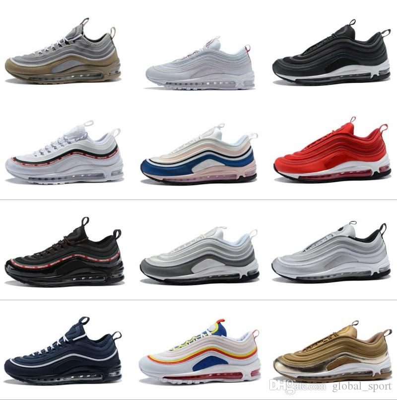 2018 Air Undefeated 97 Running Shoes Silver Bullet Gold White 97s Men Women  Casual Maxes Trainers Designer Sports Sneakers Chaussures Online with ... 7fd08c370