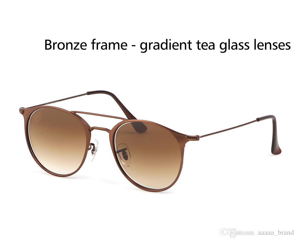 Marka Tasarımcı Güneş Kadınlar Erkekler Yuvarlak güneş gözlüğü oculos Lunette De Soleil Femme de sol erkeksi gafas de sol mujer Perakende vakalarla
