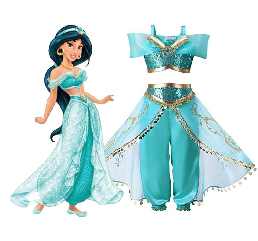 Girls Aladdins Lamp Jasmine Princess Costumes For Women Halloween Party Belly Dance Dress Indian Princess Costume Lady Online Shop Novelty & Special Use Latin