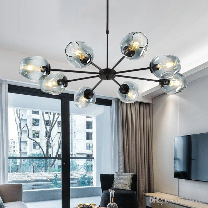 Rational Nordic Modern Minimalist Restaurant Chandelier Creative Single Head Led Retro Art Diamond Lamp Lights & Lighting