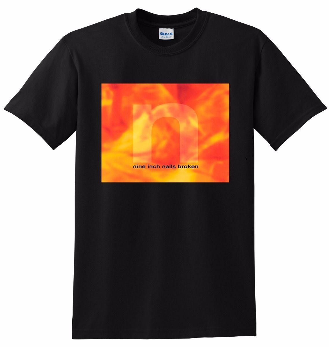 Nine Inch Nails T Shirt Nin Broken Vinyl Cd Cover Tee Small Medium ...