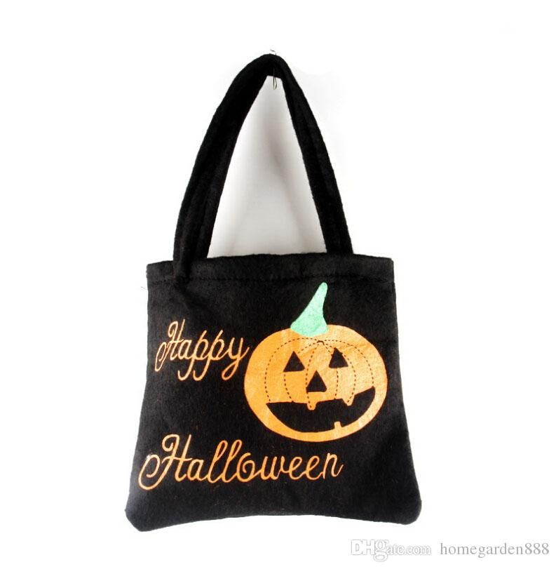 halloween props bag halloween ghost festival childrens gift candy bag portable non woven bag manufacturer wholesale two colors christmas decors christmas