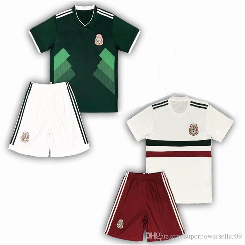 DHL 2018 World Cup Kids Kit Mexico Home Green And Away White Shirt And  Short Cheap Jersey Customized 08 UK 2019 From Superpowerseller09 910e97188
