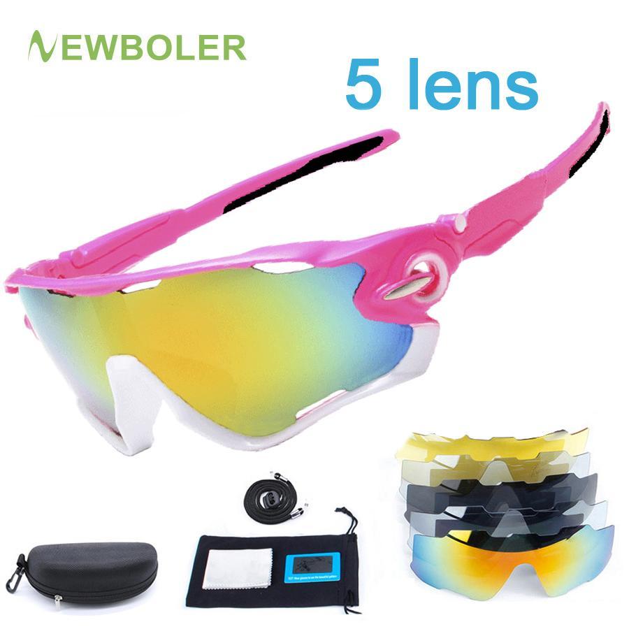 9bcfc69caf 2018 Nuevo Pink Bike Gafas Polarizadas Mujeres 5 Lentes Gafas De Sol  Ciclismo Carretera Deporte Bicicleta Hombres Correr Montar MTB Eyewear  Uv400 Por ...