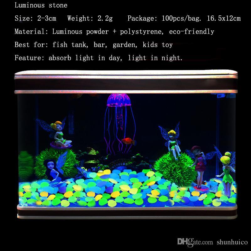 Luminoso guijarro piedra artificial ligero resplandor en las piedras oscuras para el hogar decoración del tanque de peces jardín camino pasillo decoraciones de piedra