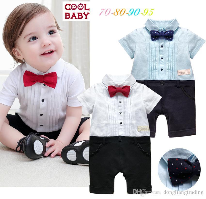 Mode Baby Kleidung Schwarz Cool Babyspielanzug Neugeborene Kleidung Jungen Mädchen Kleidung Set Kleinkind Anzug Kurzarm Outfits Mutter & Kinder