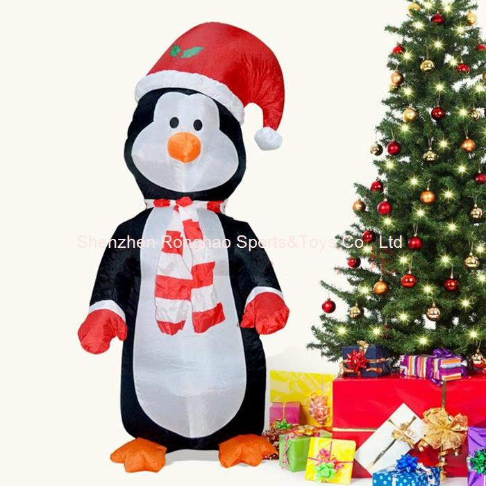 4 foot lighted inflatable christmas cute standing penguin blow up yard decoration cosplay party home xmas decorations house christmas decoration from - Blow Up Christmas