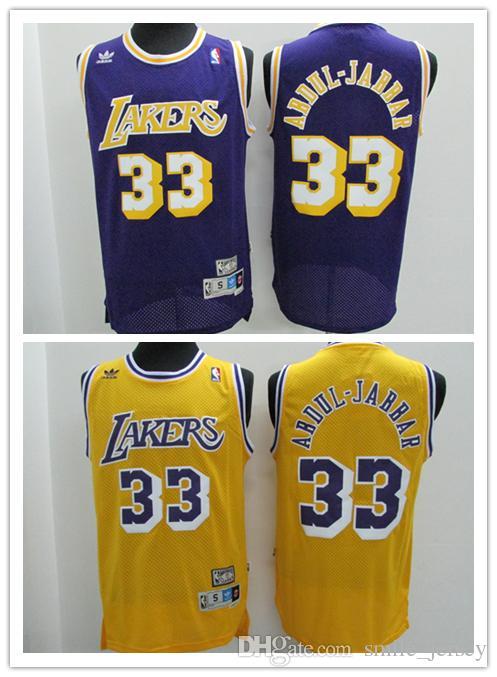 4be653e75 Mens 33 Kareem Abdul-Jabbar Los Angeles Jersey Lakers Basketball ...