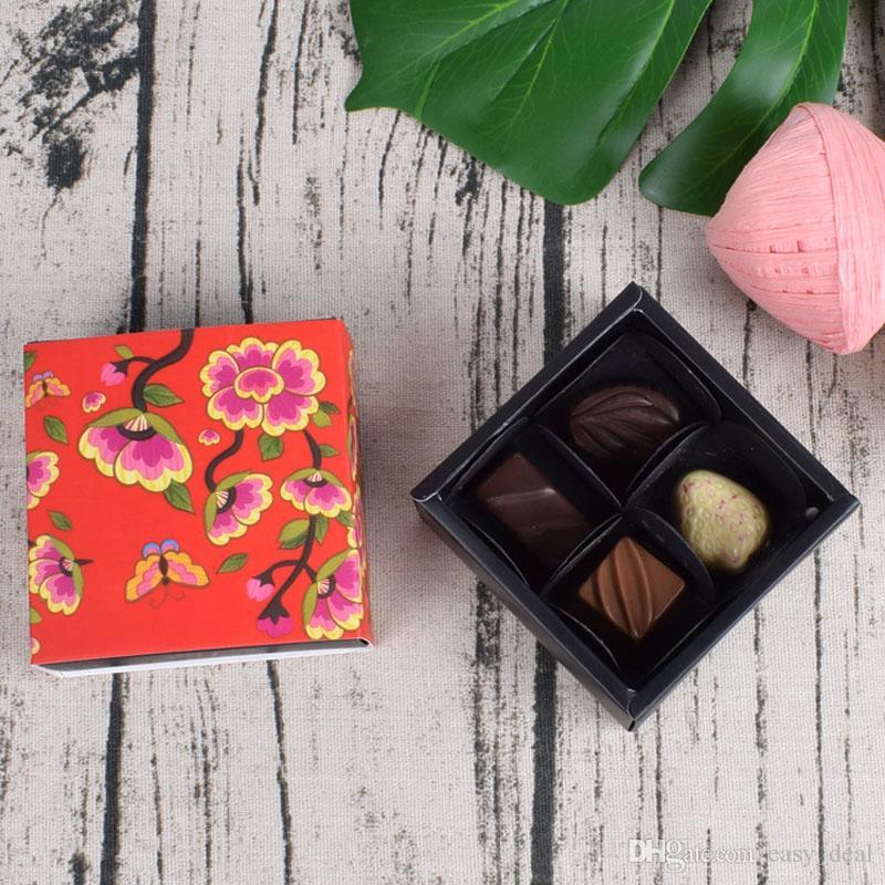 Feliz Año Nuevo Estilo Chino Tradicional Pastel de Chocolate Cajas de Regalo de Dulces para Cocina Hornear Decoración ZA6352