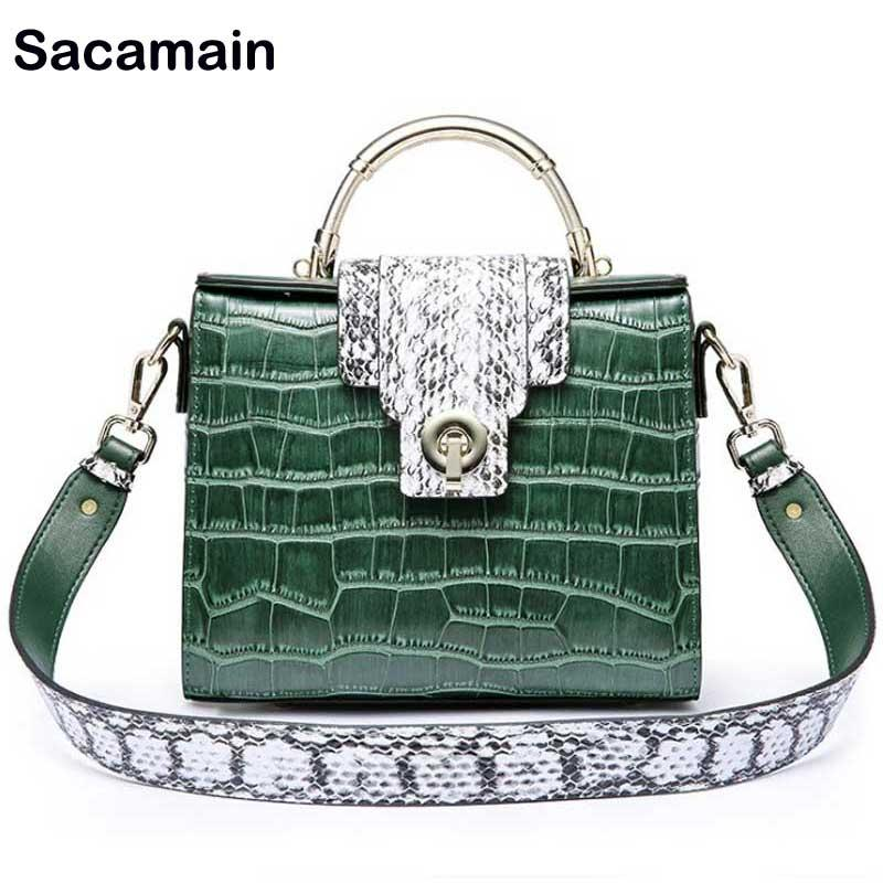 947fe6bb06 Sac A Main Bag Women S Crocodile Fake Skin Snake Crossbody Bags For Women  Luxury Handbags Women Bags Designer Bolsos Mujer Womens Bags Camo Purses  From ...