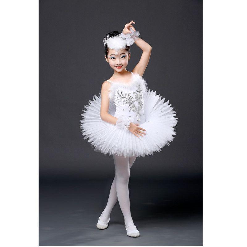 6a4c1178d0 2019 New Professional Dance Tutu Ballet Children Sequined Ballerina  Costumes Kids White Swan Lake Costume Girls Ballet Dress From Meizuang,  $31.78 | DHgate.