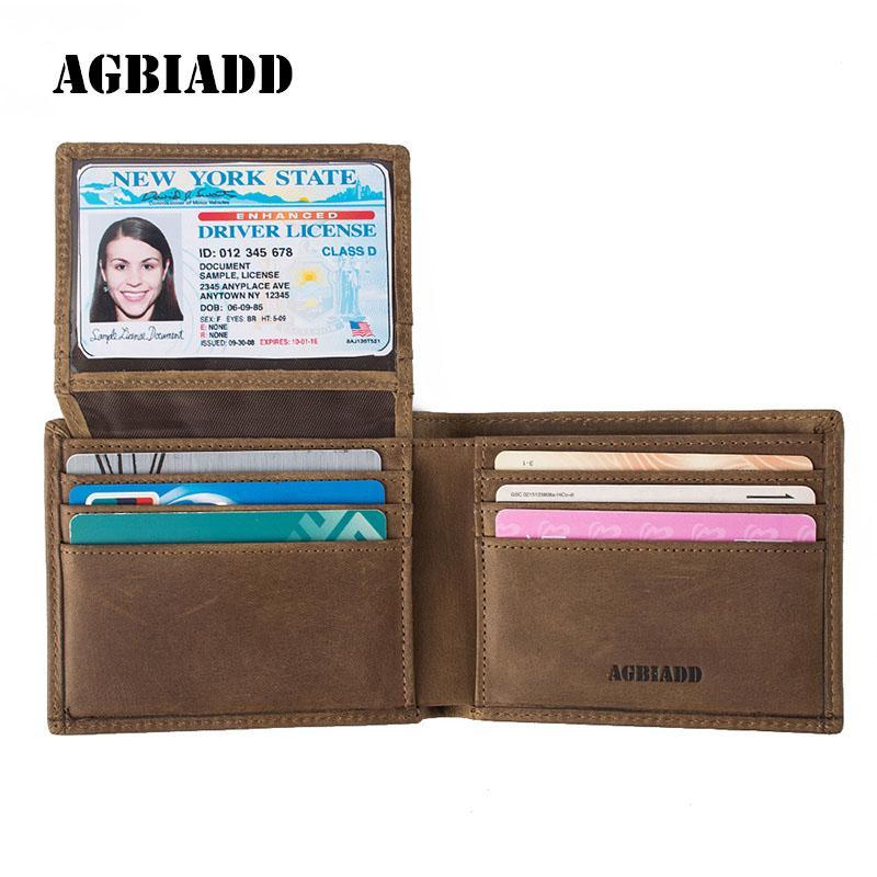 fd8efe1a7 Compre Carteras De Bloqueo RFID De Cuero Genuino Para Hombre Billetera  Bifold S590 Marrón Negro A $23.09 Del Viceokae | DHgate.Com