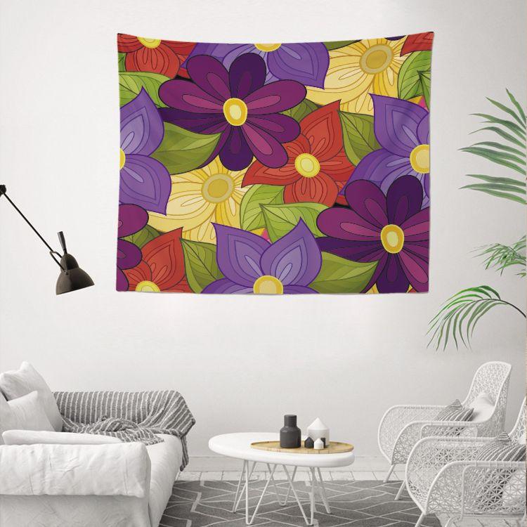 Пользовательские Pringting Оптовая лучшие заводские цены необычные красочные декоративные дом 130x150cm 3D хаос шаблон цветок серия настенные гобелен