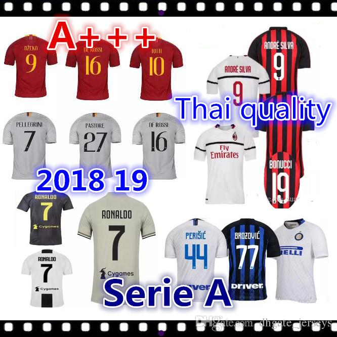 a8d4e67bf Thai Quality 2018 RONALDO Soccer Jersey Serie A 18 19 ICARDI ...