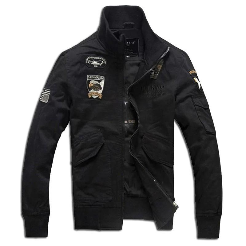 2017 Classic Men Bomber Jacket Fashion Cotton Casual Military Jackets Brand Clothing Men's Zipper Coat 4XL Male Outerwear S76
