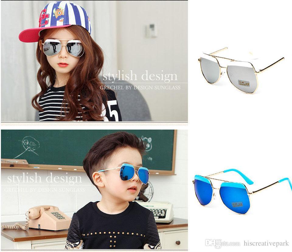 ec03f16b27 2019 Child Pretty Goggles Boys Girls Antique Oval Fashion Glasses Aviator  Sunglasses Classic Vintage Flat Top Sunglasses From Hiscreativepark