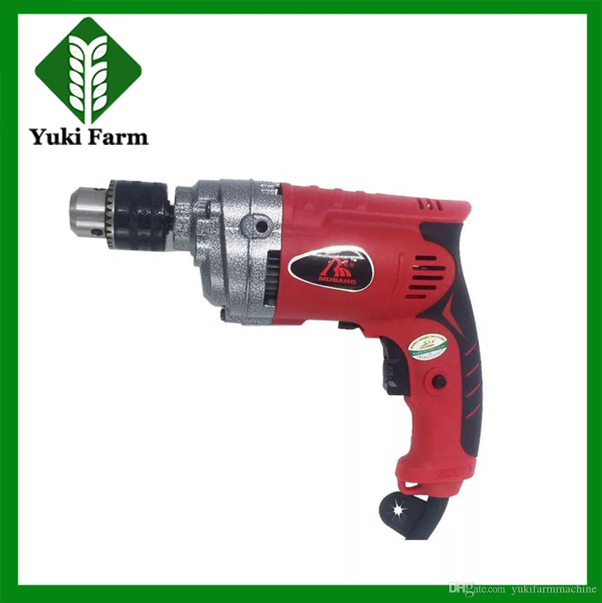 Portable 13mm electric drill 220v power tools household mini hand drill  750w high power electric impact drills