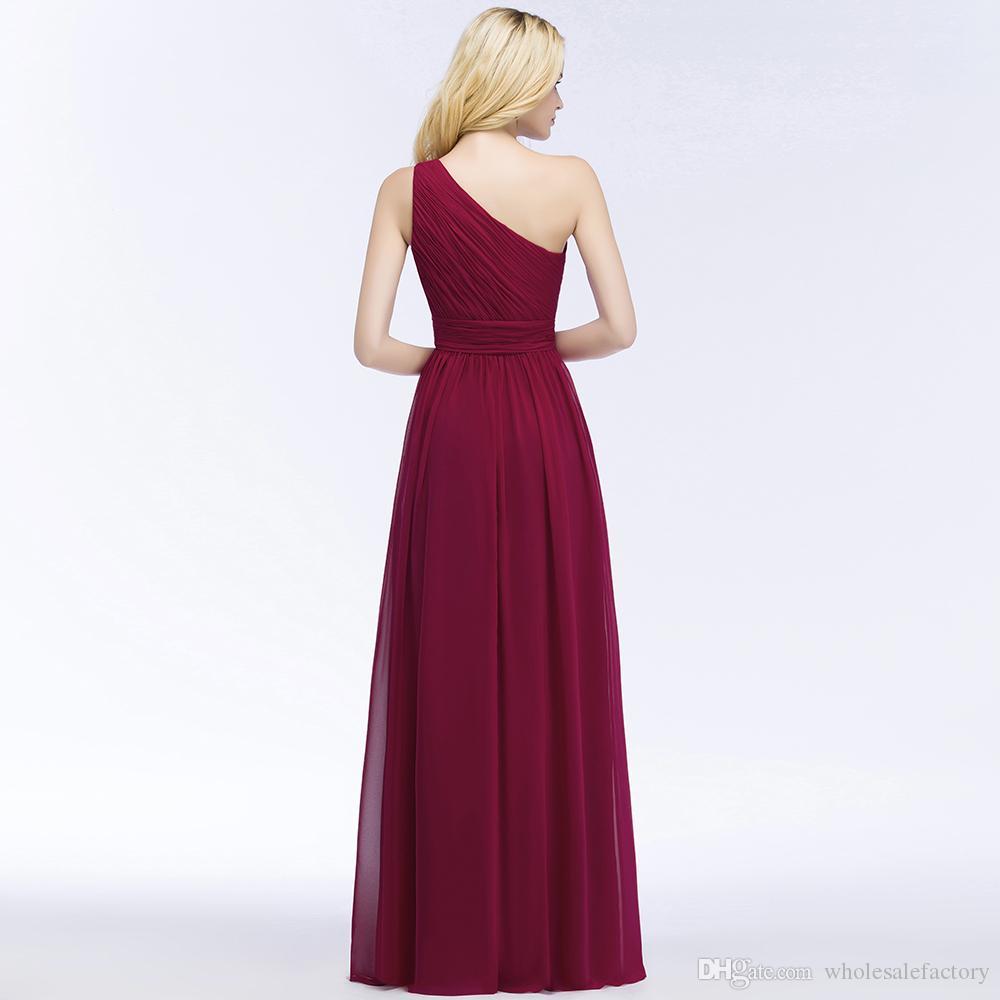 2018 orden de la mezcla con cuello en V gasa gasa vestidos de dama de honor largos acanalada longitud formal dama de honor vestidos de invitados de boda Cps878