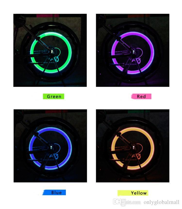 Toptan LED Flaş Konuştu Tekerlek Işık Lastik Lastik Vana Kapağı Işık Uyarı için Dekoratif Lamba Araba Motosiklet Bisiklet Bisiklet Bisikle ...